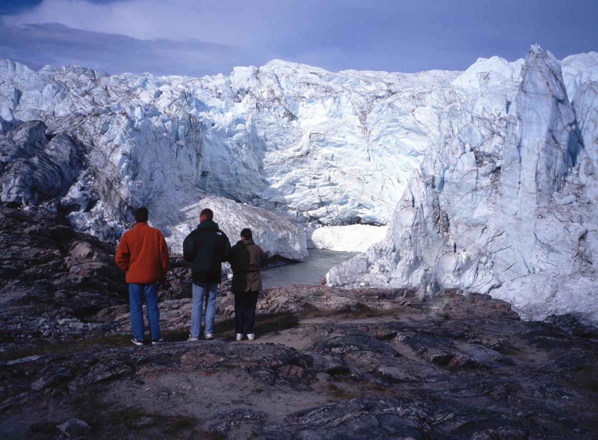 A Glacier in Greenland