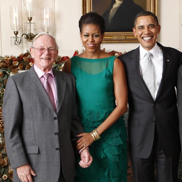 Brian Ashley meeting President Obama