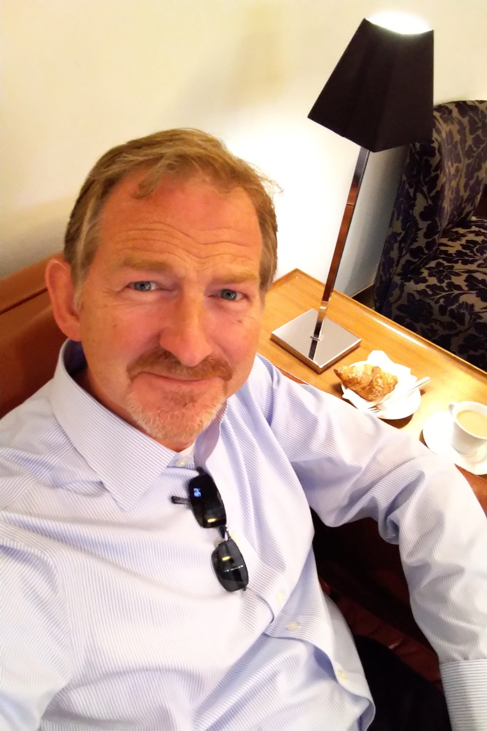 Wesley Baker In Business Lounge