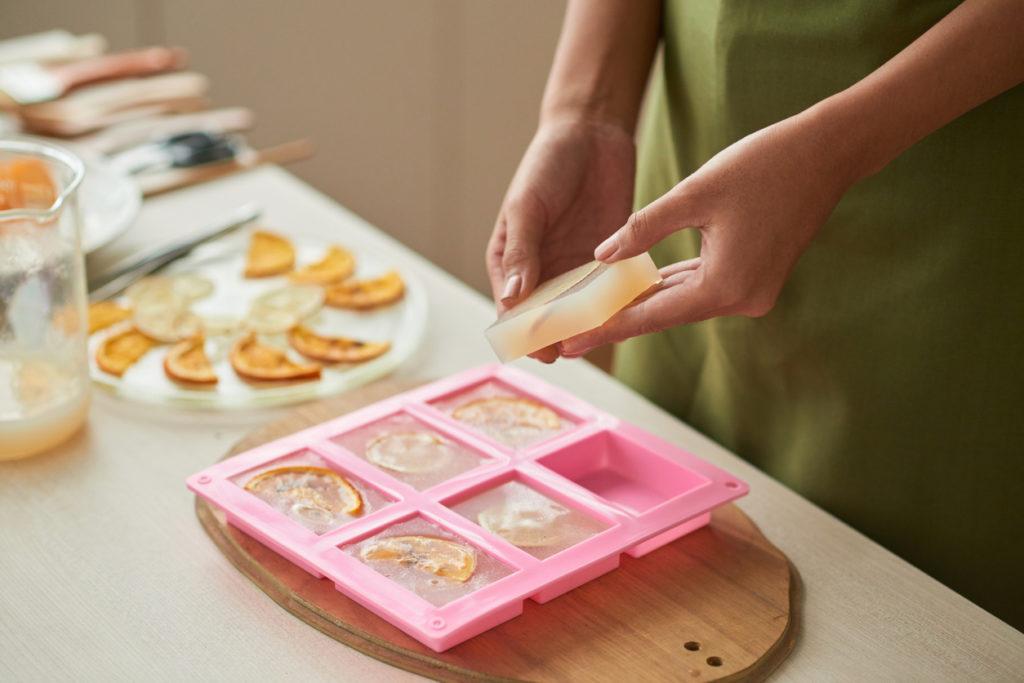 Making soap bars