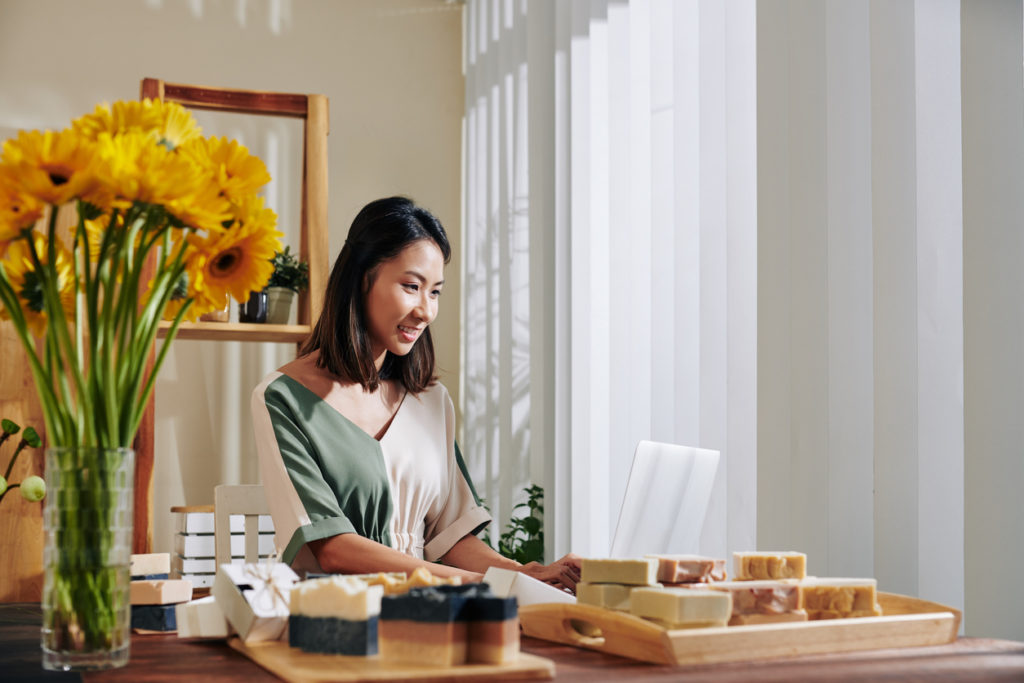 Selling handmade soap online